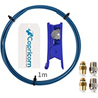 Ceality 1 Meter Capricorn XS Series PTFE Bowden Tubing Low Friction with 2PCS Large and Small Pneumatic Couplers for 1…