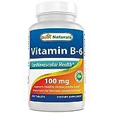 Best Naturals Vitamin B6 Tablet, 100 mg, 250 Count