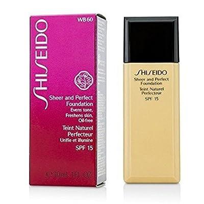 Shiseido Sheer & Perfect Foundation SPF 15 - # WB60 Natural Deep Warm Beige 30ml/1oz