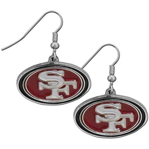 NFL San Francisco 49Ers Chrome Dangle Earrings