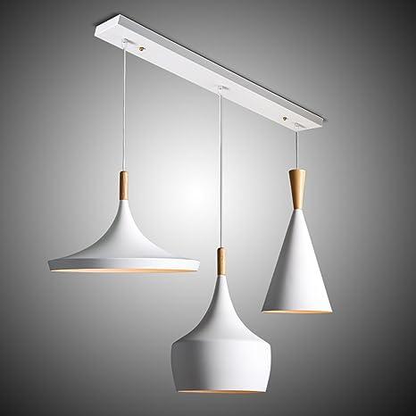 W de brillight techo madera y metal colgante Leuchten industriales Deco lámpara iluminación 3 luces araña