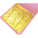 "[20pc] 24 Karat Edible Gold Leaf, Food Grade, 10x Loose Leaf (3.15""x 3.15""), 10x EZ Transfer Sheets (1.57"" x 1.57""), Easy to Apply, Great for Food Decoration, Cosmetic Purpose, Artistic Work"