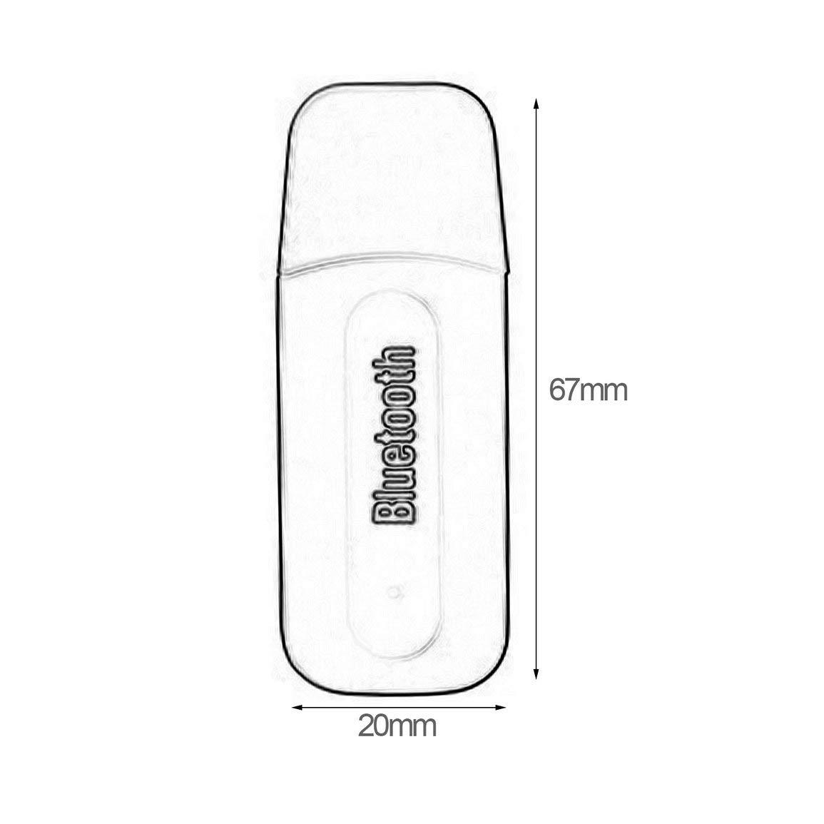 USB 3.5mm Adaptador de Coche Jack Receptor inal/ámbrico de Audio AUX MP3 Music Herramienta Manos Libres para autom/óvil Jugador