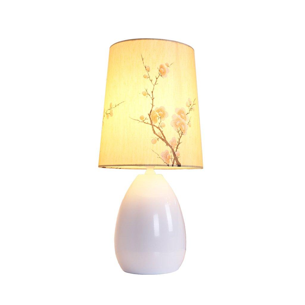 wshfor Lámpara de mesa de dormitorio, moderno, estilo minimalista moderno, dormitorio, sombra impresa, luces de la sala E27 / luces de la lectura / restaurante / lámpara de la decoración del hotel 70f4c7