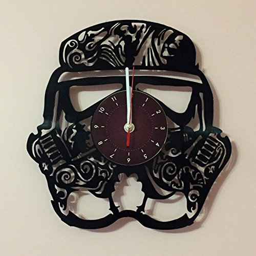STORMTROOPER Star Wars Saga Vinyl Record Wall Clock - Get unique bedroom or garage wall decor - Gift ideas for parents, boys and girls, friends Movie Unique Art Design
