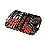 Barbecue Grill Tools made of Stainless-Steel with Storage Carrying Case- 18-Piece by Juvale (17.25 x 3 x 12)