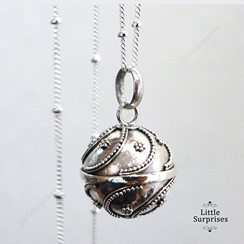 16mm Sterling Silver Chime Sound Harmony Ball Bola Pendant 3