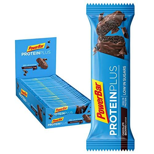 Powerbar Protein Plus Reep, Slechts 107 Kcal – Low Sugar Eiwitgrendel, Fitnessriem Met Ballast – Chocolate Brownie, 30 x…