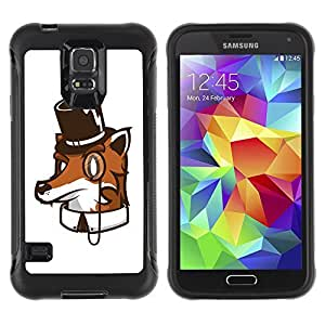 Hybrid Anti-Shock Defend Case for Samsung Galaxy S5 / High Class Fox