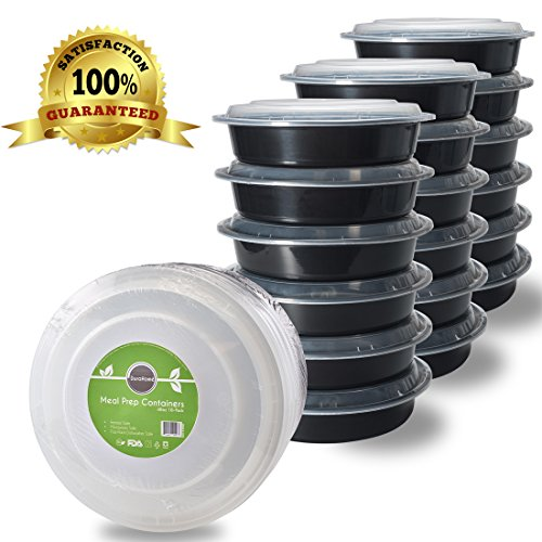 Meal Prep Containers with Lids - 48oz. (9