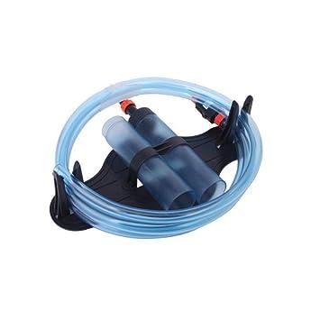 YaptheS Acuario sifón de Agua del Cambiador de Grava del Acuario Limpiador de vacío Semi-automático de la Manguera de succión de Agua para: Amazon.es: ...