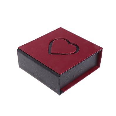 NKYSM Joyería Caja de Regalo en Forma de Corazón Hueco Pulsera Caja para Collar Anillo Pendientes: Amazon.es: Joyería