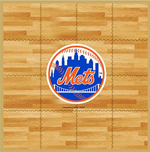 New York Mets Tailgater Mat (MLB New York Mets MLB 8-foot by 8-foot Fan Floor, Tan, 8-foot x)