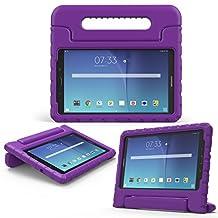 MoKo Samsung Galaxy Tab E 8.0 Case - Kids Shock Proof Convertible Handle Light Weight Super Protective Stand Cover for Samsung Galaxy Tab E 8.0 Inch SM-T377 4G LTE Tablet, PURPLE