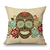 elegancebeauty 16 x 16 inches / 40 by 40 cm skull pillow cases ,2 sides ornament and gift to teens boys,dining room,pub,birthday,lounge,her