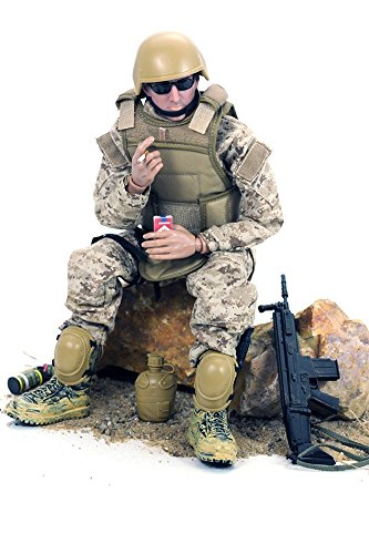 12'' American Military Soldiers Special Forces Army Man Action Figures Play Set-Digital Desert Camouflage from Mallya