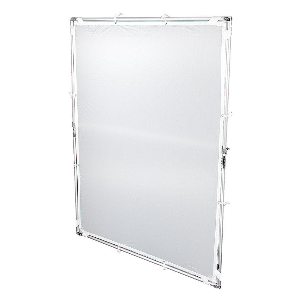 Pro Studio Solutions 140cm x 200cm (55.25in x 78.75in) Sun Scrim - Collapsible Frame Diffusion & Silver/White Reflector Kit with Handle and Carry Bag by Fotodiox