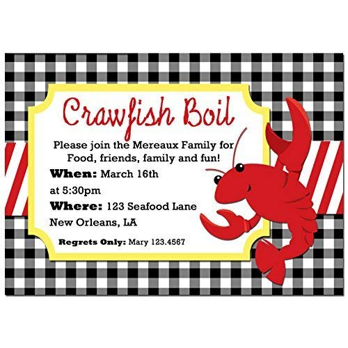 graphic about Crawfish Boil Invitations Free Printable called : Crawfish Boil Invitation - Birthday, Engagement