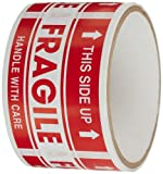 Olympic Tape(TM) ''Fragile, This Side Up'' Label - 50 per pack (1 Pack)