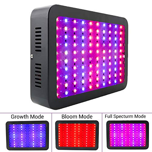 AUTOGEN 1000w LED Grow Light Double Chips Full Spectrum 2 Switches Control Veg Flower All Phases with UV and IR for Greenhouse Indoor Plant Review