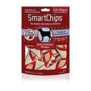 SmartBones SBC-00230 SmartChips With Real Chicken 12 Count, Rawhide-Free Chews For Dogs