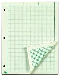 Tops Engineer's Computation Pad, 200 Sheets (35502), 8.5 X 11 Inches, 3 Hole Punch