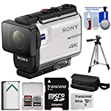 waterproof digital camera sony - Sony Action Cam FDR-X3000 Wi-Fi GPS 4K HD Video Camera Camcorder with 64GB Card + Battery + Case + Tripod + Kit