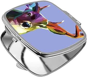 مرآة جيب، بتصميم فن تجريدي - غزال، شكل مربع
