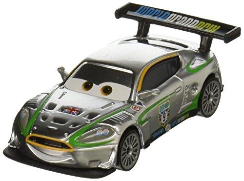 DISNEY PIXAR CARS 2015 RELEASE NIGEL GEARSLEY SILVER RACER SERIES EXCLUSIVE DIE-CAST Silver Racer Series