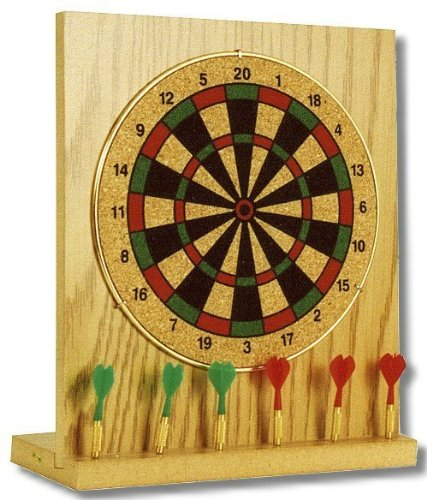 Mini tablero de dardos ideal para el escritorio o en casa. Gama de aplicaciones que representa el realismo de base de madera con flecha soporte, incluye{6} mini-dardos dimensiones 20 x 18