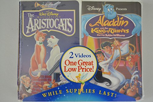 Walt Disney the Aristocats & Aladdin and the King of Thieves, Vhs - 2 Pack