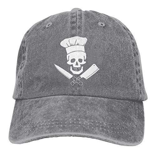 oking Skull Vintage Jeans Adjustable Baseball Cap Cotton Denim Dad Hat ()