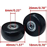Miayaya Suitcase Wheels Replacement 360 Spinner