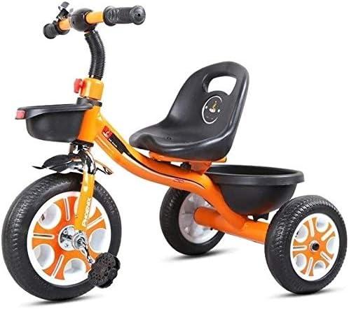JINHH Cochecito del Triciclo, Los Niños De Los Niños De Bicicletas Kid Portátil Y Seguridad Saliente De Pasajeros Portátil Y Seguridad del Pedal del Asiento De Coche 4 Color (Color: Azul)