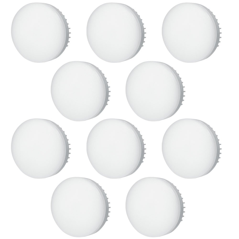 DASKOO 10-er Pack GX53 5W = 40W LED Licht Aluminium + PC Warmweiß AC 85-265V