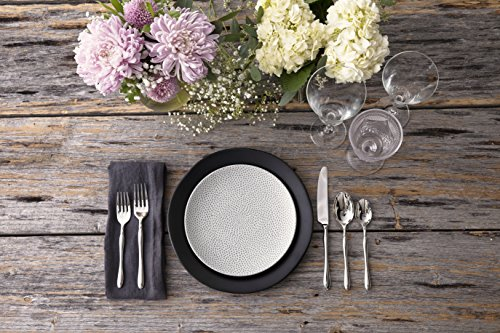 Fortessa Vitraluxe Dinnerware Heirloom Matte Finish Show Plate 12-Inch, Charcoal, Set of 4 by Fortessa (Image #2)