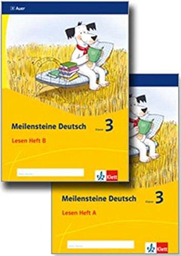 Meilensteine Deutsch 3. Lesestrategien - Ausgabe ab 2017: Paket Heft A-B Klasse 3 Broschüre – 15. Mai 2017 Klett 312007117X Schulbücher für den Primarbereich