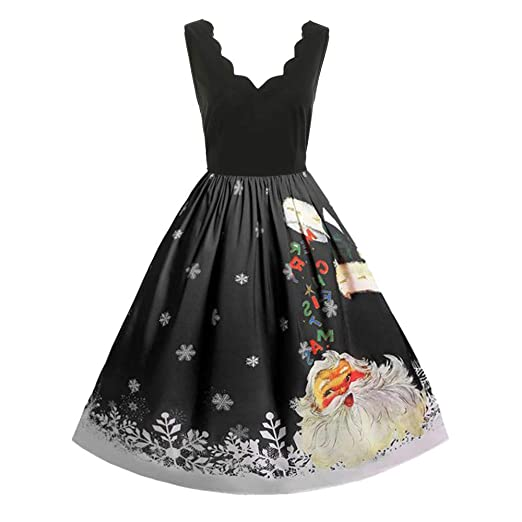 f45f04db3e2 Christmas Women Retro Dress