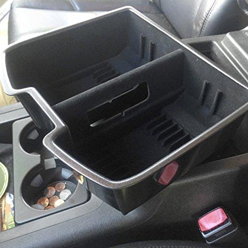Premium Black Center Front Floor Console Organizer For Full Import It All