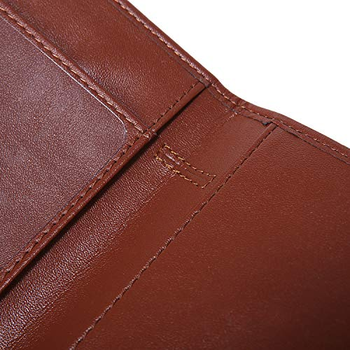 Kookio Leather Checkbook Cover for Register Duplicate Checks Slim Wallet with Pen Holder and Card Slot for Men /& Women