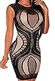 Zkess Women's Sleeveless / Long Sleeve Lace Party Bodycon Dress