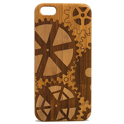 (Steampunk Gears iPhone 7 Plus Case/Cover by iMakeTheCase | Eco-Friendly Bamboo Wood Cover Skin | Mechanical Gear Cogs Watch Parts. )