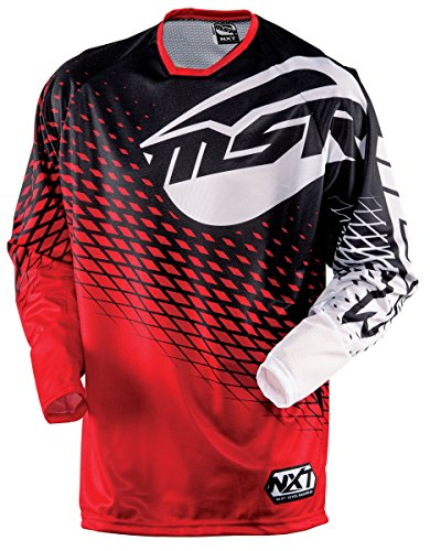 Msr Motorcycle Gear (MSR Racing M15 NXT Men's MotoX Motorcycle Jersey - Red/Black / X-Large)
