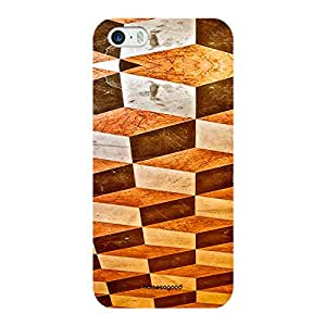 HomeSoGood Chequered Chess Boxes Pattern Multicolor 3D Mobile Case For iPhone 5 / 5S (Back Cover)