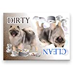Keeshond Clean Dirty Dishwasher Magnet 3