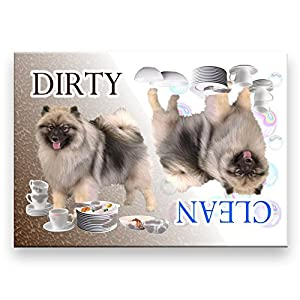 Keeshond Clean Dirty Dishwasher Magnet 23