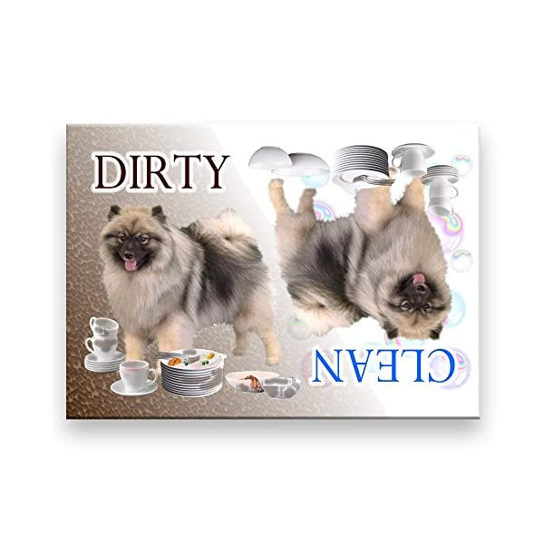 Keeshond Clean Dirty Dishwasher Magnet 1