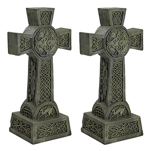 Design Toscano Donegal Celtic High Cross Statue: Set of Two – Irish Cross Statue – Memorial Statue Review