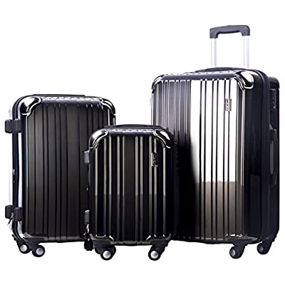 Merax Dreamy ABS+PC 3 Piece Expandable Luggage Set with TSA Lock