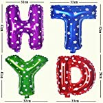 ToyNext™ Happy Birthday Letters Foil Balloon Set Decoration Combo with 50 Polka Dot Balloon, Birthday Balloons for Decoration – Multi Color